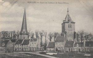 BERGUES, France, 1900-10s ; Tours de l'abbaye de Saint-Winoc