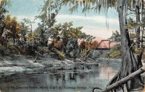 LP07 Suwanee River R.R Bridge  Florida Postcard