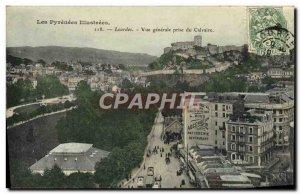 Old Postcard Lourdes Vue Generale Jack Du Calvaire