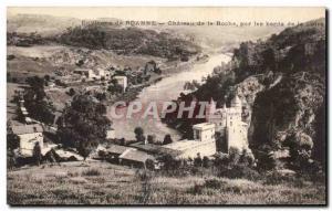 Old Postcard About Roanne Chateau de la Roche on the banks of the Loire