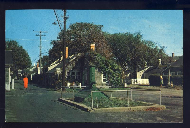 Nantucket, Massachusetts/MA/Mass Postcard, Pump Square, Cape Cod, 1971!