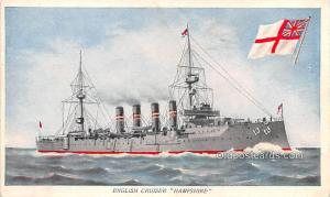 English Cruiser Hampshire Military Battleship Unused