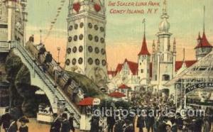 The Scaler, Luna park, Coney Island, NY, USA Coney Island Amusement Park Post...