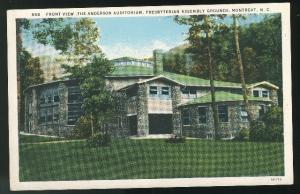 NC Montreat Presbyterian Assembly Grounds New Auditorium Vntg Postcard Curteich