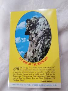 Vintage Postcard entitled, Old Man of the Mountain