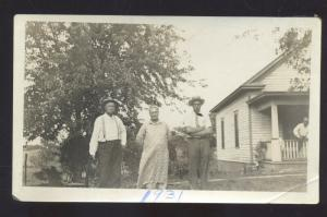 REAL PHOTO PHOTOGRAPH WARRENSBURG MISSOURI BOWMAN RESIDENCE FAMILY 1931
