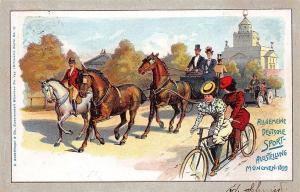 General German Sport Exhibition Munchen 1899 Pioneer Postal Card
