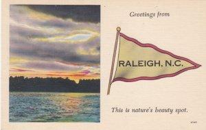 RALIEGH , North Carolina , 1930-40s ; Banner
