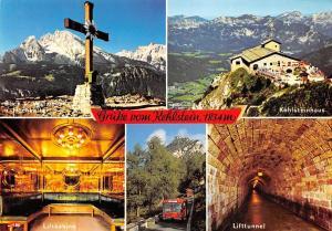 Gruesse vom Kehlstein, Lifttunnel Kehlsteinhaus Watzmann Liftkabine Berg