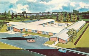Boise Idaho~Valley Sunset Home~Retirement Center~Artist Conception~Cars~1960s