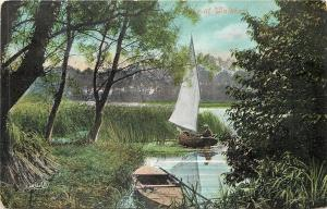 Walsham~Small Sailboat Among the Reeds 1910