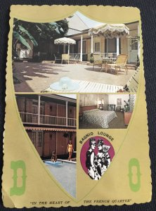 Unused Postcard Dauphine Orleans Motor Hotel French Quarter New Orleans Toned LB