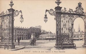 NANCY , Meurthe et Moselle, France, 1900-10s : Grilles de Jean Lamour et Plac...