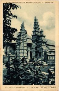 CPA Indonesia Pavillon des Pays-Bas - L'Ile de Bali (360196)
