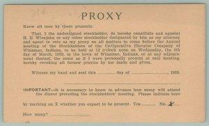 Royal Center IN~1939 Proxy Vote Postal~Cooperative Elevator Co, Winamac Indiana