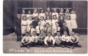 RPPC, 5th Grade St. Louis School, Buffalo NY