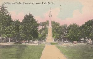 Soldiers and Sailors Monument - Seneca Falls NY, New York - pm 1920 - DB