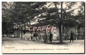 Camp St Medard en Jalles Old Postcard Military Housing