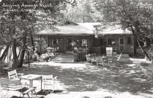 Agness Oregon Singing Springs Ranch Real Photo Antique Postcard J69580