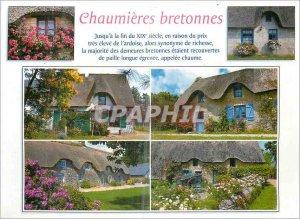 Postcard Modern Chaumieres Breton