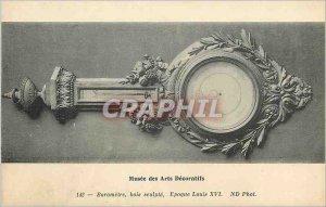 Old Postcard Musee des Arts Decoratifs Barometer Louis XVI Wood Sculpting
