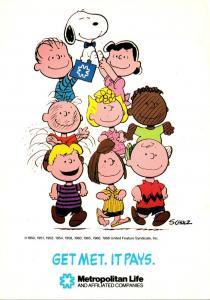 Advertising Metropolitan Life Insurance Company Charlie Brown Snoopy & The Ga...