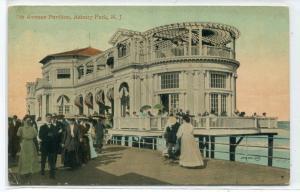 7th Avenue Pavilion Asbury Park New Jersey 1910 postcard