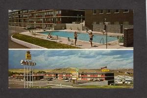 CO Garden Valley Motel Restaurant Lounge COLORADO SPRINGS Postcard  Pool