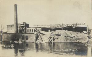 Battle Creek MI Rathbun-Kraft Lumber Co Wrecked~1908 Flood~Coal & Coke~Wood RPPC