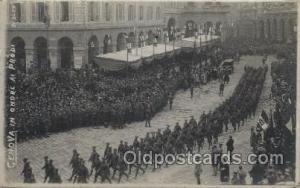 Genova in Onore ai Prodi, Military Postcard Postcards  Genova