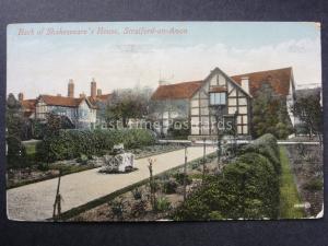 Warwickshire BACK OF SHAKESPEARE'S HOUSE Stratford on Avon c1915 Valentine 15880