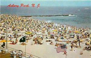 NJ, Asbury Park, New Jersey, Beach Scene, Dexter 7847B