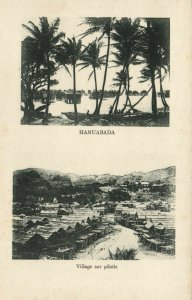 PC CPA PAPUA NEW GUINEA, HANUABADA, VILLAGE SUR PILOTIS, Postcard (b19751)
