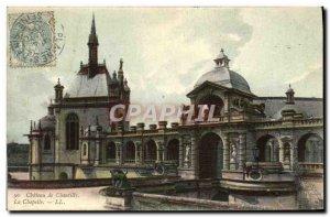 Old Postcard Chantilly Castle chapel