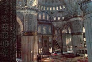 Turkey Istanbul Interior of the Blue Mosque Sultanahmet Camii ici Postcard
