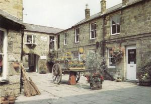 Pateley Bridge Flower Transportation Cart in Kings Court Postcard