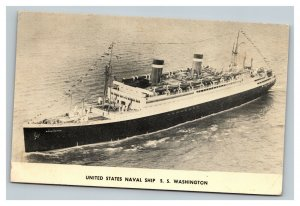 Vintage 1952 Photo Postcard United States Naval Ship SS Washington