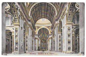 Italy Rome Basilica S Pietro Interior St Peters Cathedral