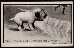 You Never Can Depend on a Woman. Dog Comic