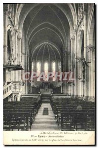 Old Postcard Lyon Annociation Church built in the nineteenth century on maps ...