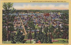 West Virginia Huntington Bird's Eye View Of Huntington From Park Hill 1948