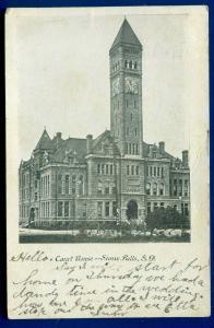 Sioux Falls South Dakota sd Court House old postcard
