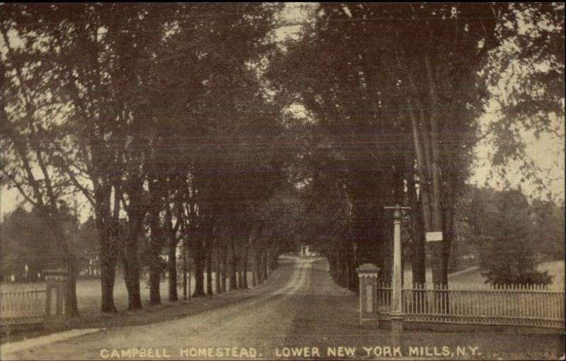 Lower New York Mills NY Campbell Homestead c1910 Postcard