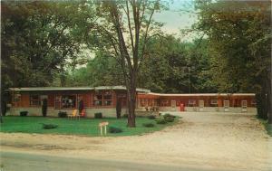 Rockville Indiana~Town House Motel~U.S. 41 & 36~Jim Peck~1950's Postcard