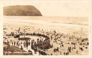 Seaside Oregon Beach Scene Real Photo Antique Postcard K36606