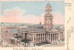 South Africa Durban, Town Hall, City Hall, Tram, animated, Natal 1904