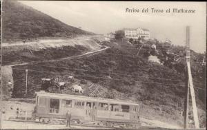 Arrivo del treno al Mottarone Italy Grand Hotel train railway