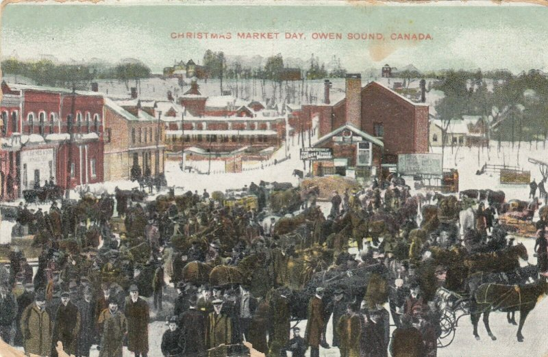 OWEN SOUND , Ontario , Canada , 1911 ; Christmas Market Day