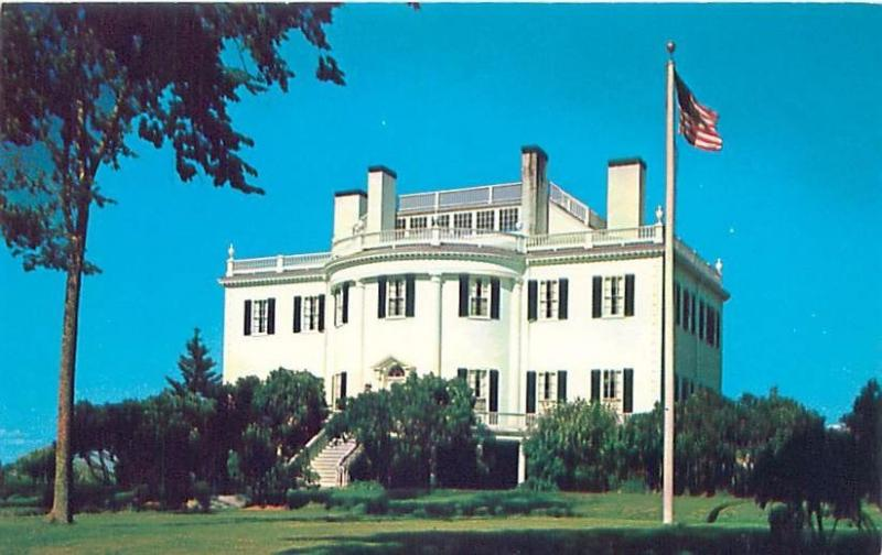 THOMASTON MAINE MANSION HOME OF GEN HENRY KNOX FIRST SEC OF WAR POSTCARD c1960s