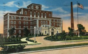 Sheboygan memorial Hospital Postcard Wisconsin c. 1947
